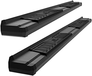 APS Black OE Style Nerf Bars Side Steps Running Boards Custom Fit 2005-2020 Toyota Tacoma Crew Cab Pickup 4-Door
