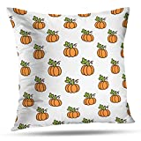 shotngwu Autumn Harvest Decorative Throw Funda de Almohadas Cover, Autumn Harvest Pumpkins Still Life Wooden Food Key Pumpkin Cushion Cover for Bedroom Sofa Living Room 18X18 Inches