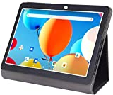 Tablet Case for ZONKO 10 inch Tablet, Leather Stand Cover Compatible Lectrus 10.1, Victbing 10, Hoozo 10, Winsing 10, Android Tablet, Black