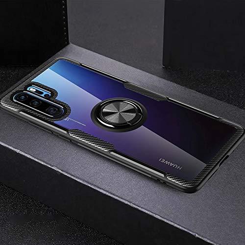XMCJ Carcasa a prueba de golpes para Huawei P30 P20 Lite con anillo magnético y soporte para Huawei Mate 20 30 P30 P40 Pro (color: negro completo, material: para Huawei Mate 30)