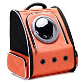 Cat Carrier Backpack Bubble, Space Capsule Pet Carrier Backpack for Small Dog and Puppy, Dog Backpack Carrier for Travel and Hiking, Airline Approved (Orange)