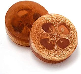 Two Pack Luffa Soap Bars for Dark spots, Stretch marks, Whitening with Earthy, Warm Sandalwood Aromatherapy