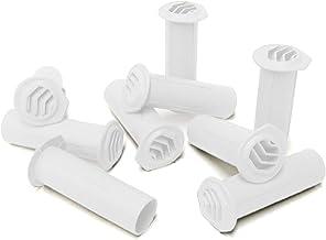 10 x blanco taladro timloc Vent de metal para rejilla de ventilación redonda, de tracción Pared, prestados paredes