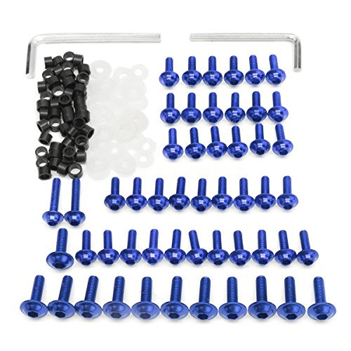 Alamor Motorrad Verkleidung Schrauben Kit Verschluss Clips Schraube Für Yamaha YZF R6 1999 2000 2001 2002 - Blau