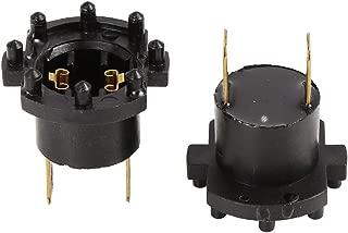 X AUTOHAUX Pair Car Headlight Bulb Socket Holder Connector Adapter for 2004-2009 Mazda 3