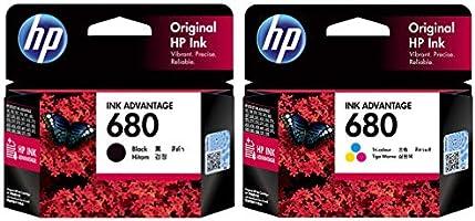 HP 680 Ink Cartridges Combo Pack (1 Black+ 1 tri-Color Cartridge)
