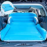 QDH SUV Air Mattress, Car Inflatable Mattress Upgraded Thickened Camping air Mattress Portable Double-Sided Flocking Surface Air Mattress with Electric Air Pump 4 in 1 Home air Sofa Bed