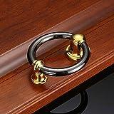Llamador de puerta con anillo de bronce verde - estilo tradicional de anillo