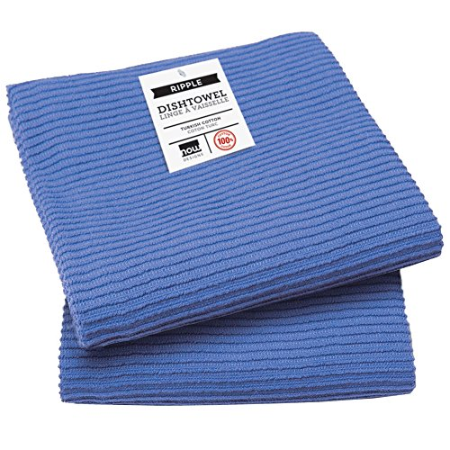 Now Designs Ripple Kitchen Towel, Set of 2, Royal Blue