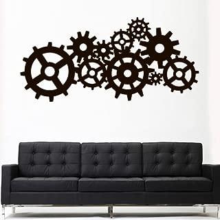 Wall Decal Vinyl Sticker Decals Art Decor Design Steampunk Gears and Cogs Geometric Machine Circles Mechanism Bedroom Dorm (Z3163)