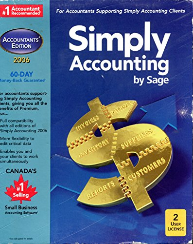 Simply Accounting by Sage ~ Pro 2006 {2-User License}