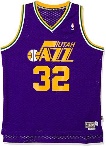 adidas Malone Camiseta, Hombre, Marron (NBA Utah Jazz 5 3Uj), S