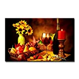 Fruit and Food Wine Wall Art Good Decor for Kitchen The Painting The Pictures Prints On Canvas Modern Artwork for Home Living Room Kitchen Restaurant