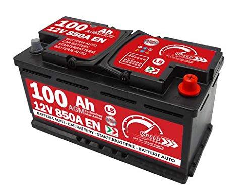 Batteria Auto Speed 100Ah AGM 850A con polo positivo a...