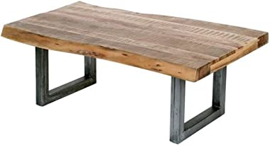Live Edge Acacia Center Table Lounge Rectangle Industrial Coffee Table Rectangular 110x60x40cm
