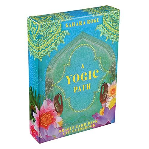 wuxafe Un Oráculo Sendero Yóguico Tarot, Tarot Cards, 54 Tarjetas Juego De Cartas con Caja para Principiantes, Mesa De Tarot para Fiesta De Reunión Familiar