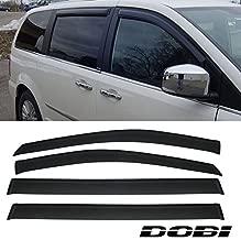 VioGi 4pcs Front Rear Smoke Sun/Rain Guard Vent Shade Window Visors For 08-13 Chrysler Town & Country Dodge Grand Caravan