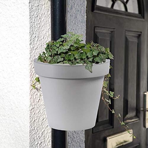 Abflussrohr Blumentopf Pflanzgefäß Halter Stabiler Pflanzenhänger Blumenkorb Balkon Garten Blumentopf 3 kg Kapazität