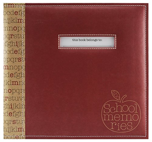 MCS MBI 13.5x12.5 School Memories Scrapbook Album with 12x12 Inch Pages with Signature Opening (850010)