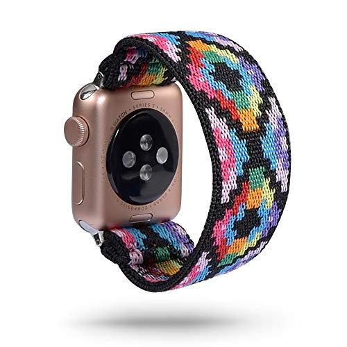 KAAGGF Scrunchie Correa for Reloj de la Banda de Apple 40mm 44mm elástico de Las Mujeres Correa 42mm 38mm Pulsera de la muñeca for IWATCH Serie 5 4 3 2 1 (Band Color : 138, Band Width : 42mm 44mm)