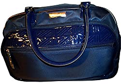 cheap Anne Klein 20inch Quilted Carry-on Wheels, Navy Blue