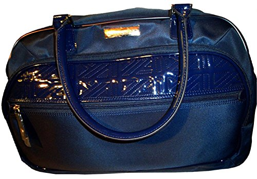 Anne Klein Women's 20' Wheeled Duffle Quilted Detail Luggage Carry-On, Navy