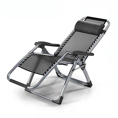 Guoyajf Zéro Gravity Chaise Lounge Recliner Pliant Réglable Bureau Patio Plage Piscine Côté Sport Intérieur Extérieur Portable Durable