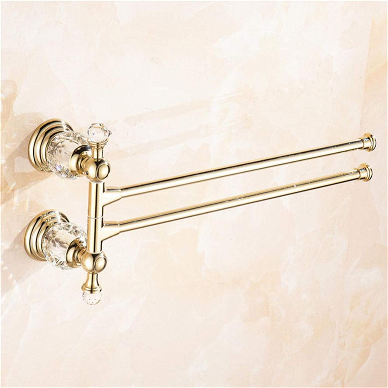 Bao de cristal dorado Toallero giratorio Bao del hotel Actividad Barra de toallas Barra Montaña en la parojo Toalla para colgar