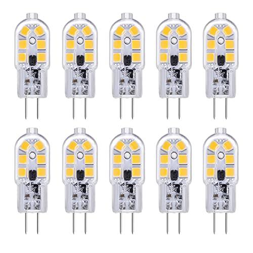 G4 LED 2W Luce Calda 3000K, 12V AC/DC, 200 Lumen, Equivalente a Alogena G4 10W-20W, Lampadina G4 LED...