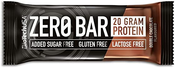 ZERO Bar Double Chocolate 20 50 g Display – Protein Bar – sugar free lactose-free gluten-free – BiotechUSA Estimated Price : £ 27,99