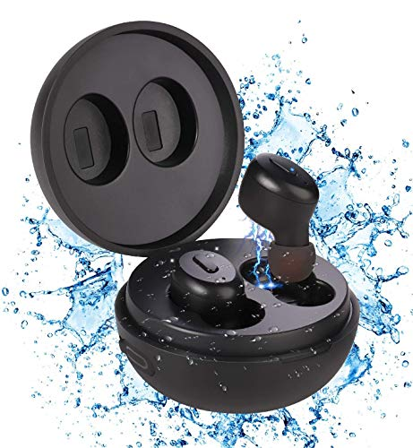 IP68 Waterproof Swimming Earbuds - Sport Wireless Bluetooth 5.0 Headphones Built-in Mic Sweatproof Stable Fit in Ear Headsets with Wireless Charging Case Special for Swimming Bathing Driving Sauna