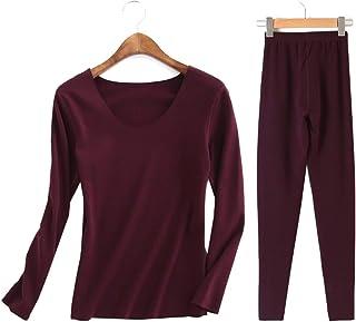 e263e55f5625 Femaroly Women's Winter Thermal Underwear Set Fever Velvet Seamless Warm  Long Johns