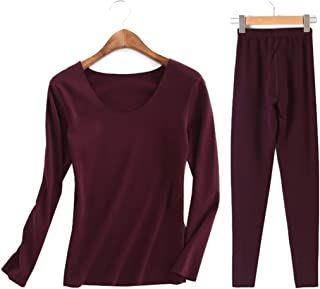 175caa0d0e6 Femaroly Women s Winter Thermal Underwear Set Fever Velvet Seamless Warm  Long Johns
