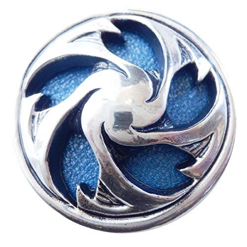 コンチョ 直径28mm シルバー 色 桜 ブルー革 blue 櫻 青革 zw-sakura-blue ZIVAGO