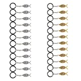 Juvale Jesus Fish Keychains - 24-Pack Metal Jesus Fish Key Chains, Jesus Key Rings, Religious Door Car Key Holders, Religious Favors for Christians, Silver and Gold