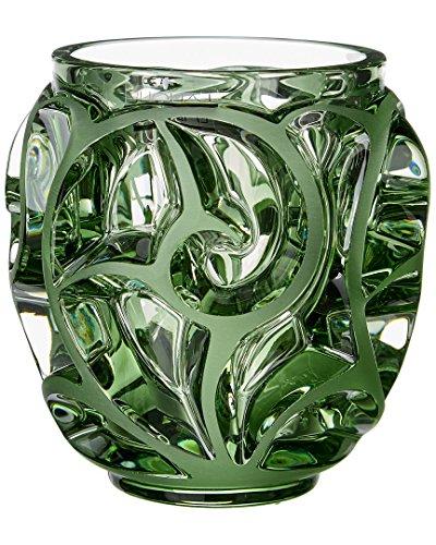 Lalique Vase Tourbillon kleines hellgrünes h 12,8 cm Largo 11,5cm