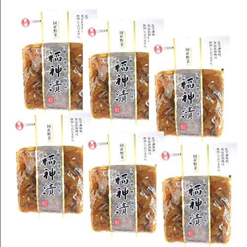 国産 福神漬け 無添加 無着色 白福神漬け 使いやすい 小分けサイズ 110gx6袋 まとめ買い