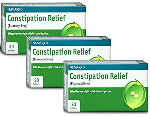 60 Tablets (3 x 20) Numark 5mg Constipation Relief Tablets