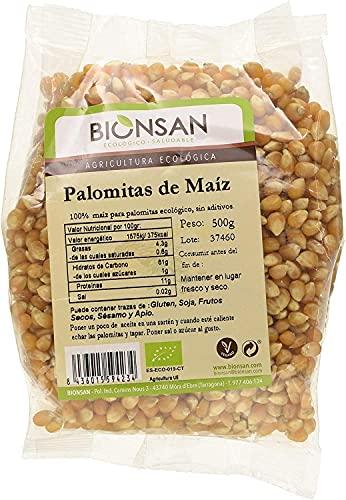 Bionsan Maiz para Palomitas | Producto Ecológico y Natural | 4 Bolsas de 500gr | Total 2000 gr