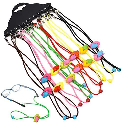 Brillenkoorden, DBAILY 12pcs Antislip Zonnebril Houder Riem Multikleur Sportbrilbanden Lanyard Verstelbare Oogkleding Retainer Koord voor Sport Outdoor Dames Kind Mannen Vrouwen