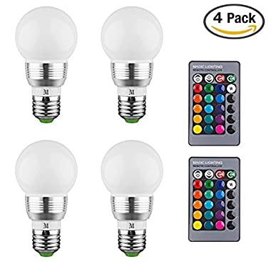 KOBRA Products Retro LED Color Changing Light Bulb With Remote Control (Pack Of 4)