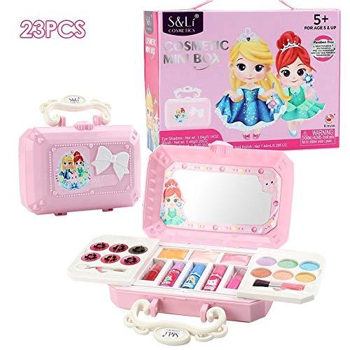 Kinder Make-up Set für Mädchen - 23PCS Real Washable Cosmetics Kit Kinder Make-up Set Make-up Kits Spielen House Girl Dress Up ungiftig