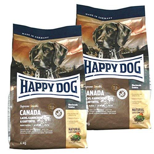 Happy Dog 2 x 4 kg Supreme Sensible Canada