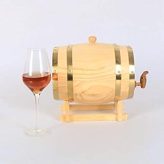 Casiers à vin Dispositif à vin Baril de chêne, Distributeur de tonneaux à vin en Bois de chêne Vintage pour Baril de vieil...