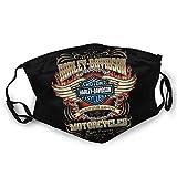 Harley Davidson Mouth Guard, wiederverwendbar, waschbar(Schwarz (1st¨¹ck)) Unisex Anti-Dust...