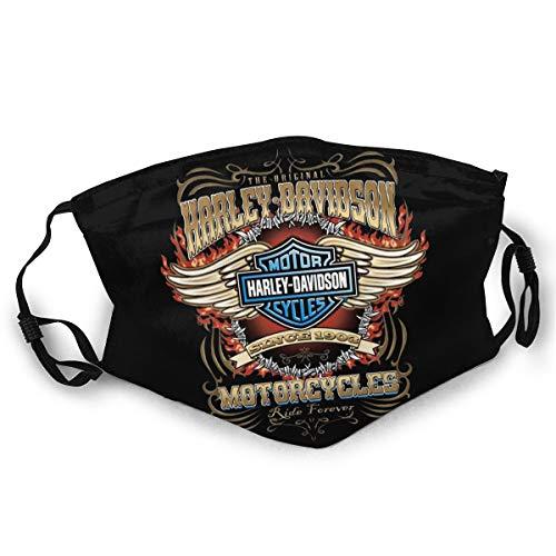 Harley Davidson Mouth Guard, wiederverwendbar, waschbar(Schwarz (1st¨¹ck)) Unisex Anti-Dust Washable Reusable Mouth Guard for Kids Teens Adults