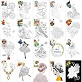 Qpout 20 Sheet Quilling Paper, Paper Quilling Set Craft Kit Quilling Strips DIY Design Tool