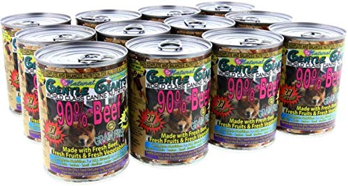 GENTLE GIANTS All Natural Dog Food, 12 Pack - Canned Beef Wet Dog Food with Grain-Free, Non GMO Ingredients - World Class Canine Cuisine - Complete Nutrition for Small, Medium, Large and Giant Dogs