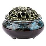 Ruiting Lotus Quemador de Incienso de Bronce Mini Aroma Quemador de Incienso Buda casa decoraci/ón Flor de Loto incensario