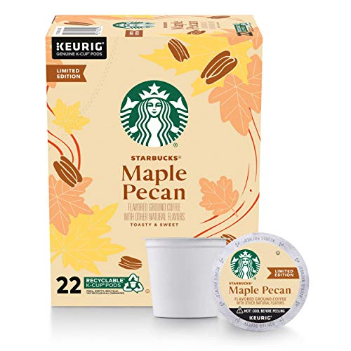 Starbucks Flavored K-Cup Coffee Pods, Maple Pecan for Keurig Brewers ,1 Box...